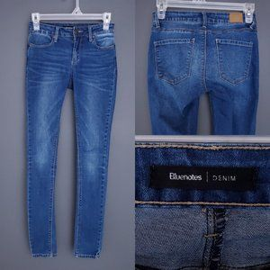 BLUENOTES Skinny Jeans Mid Rise Stretch Blue 25